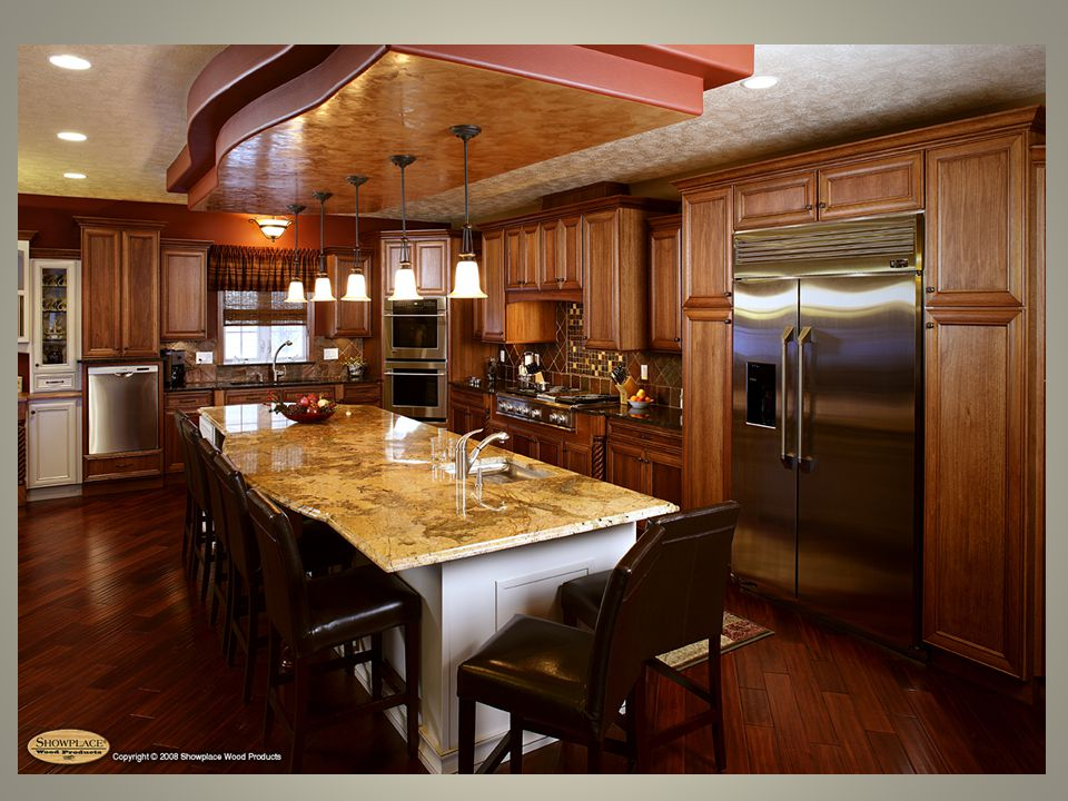 U-Shaped Kitchen Appliances and cabinets that are arranged along 3 adjoining walls Has the most continuous counter space.