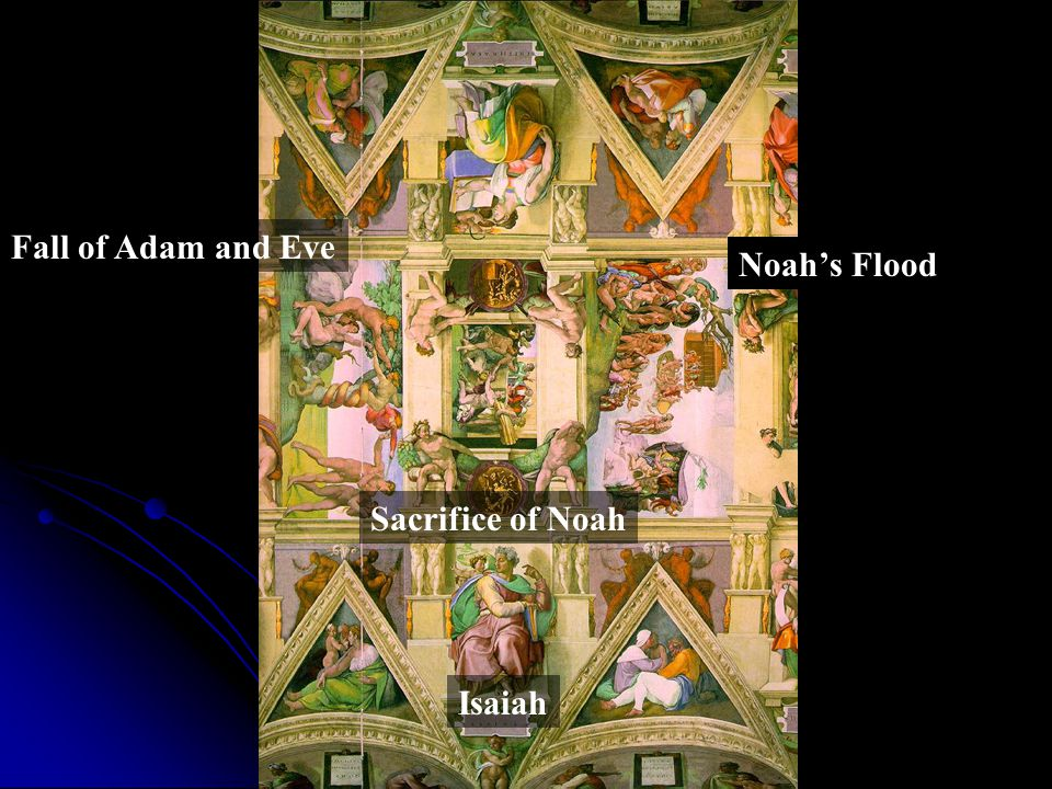 Fall of Adam and Eve Sacrifice of Noah Noah's Flood Isaiah