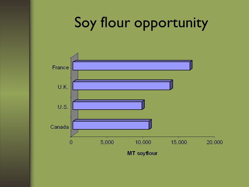 Soy flour opportunity