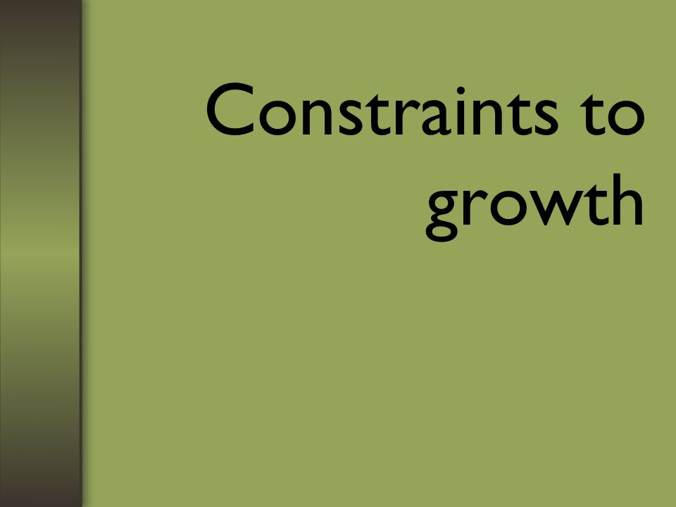 Constraints to growth