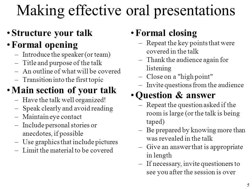 6 Project presentation recommendations Text size  24 pt.