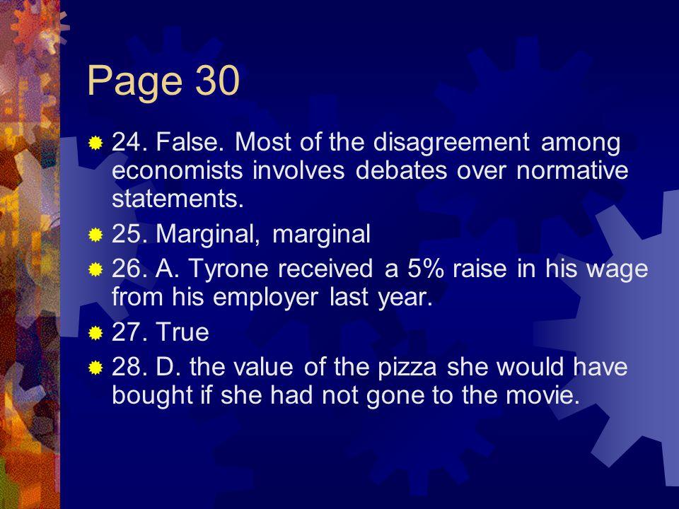 Page 30  24.False.