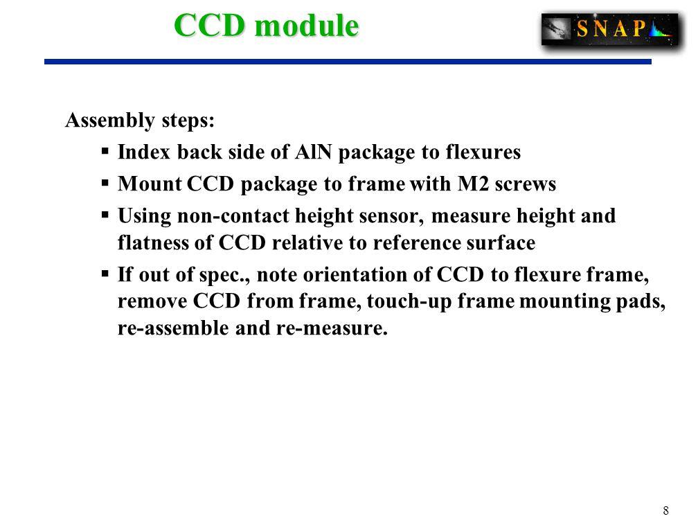 19 Vertical-flexure CCD module