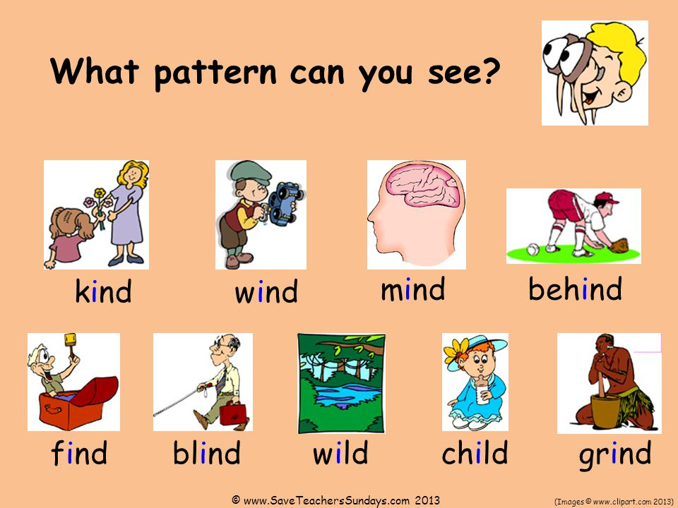 What pattern can you see.