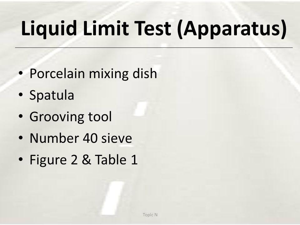 Figure 2: Liquid Limit Device Topic N