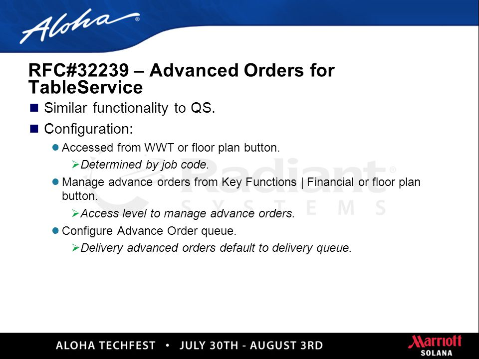 25 Advanced Orders