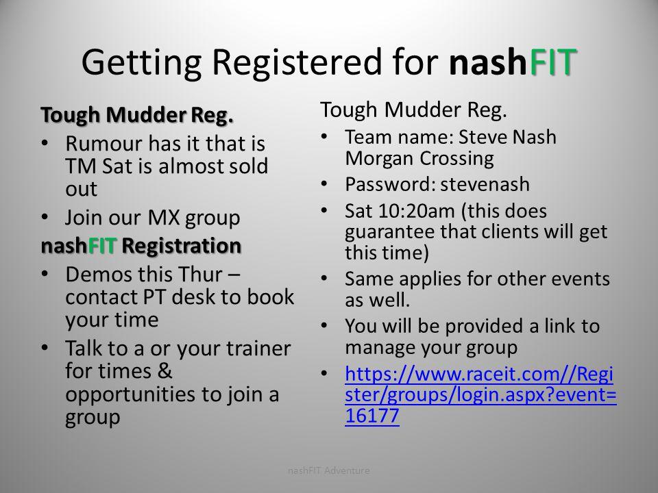 FIT Getting Registered for nashFIT Tough Mudder Reg.