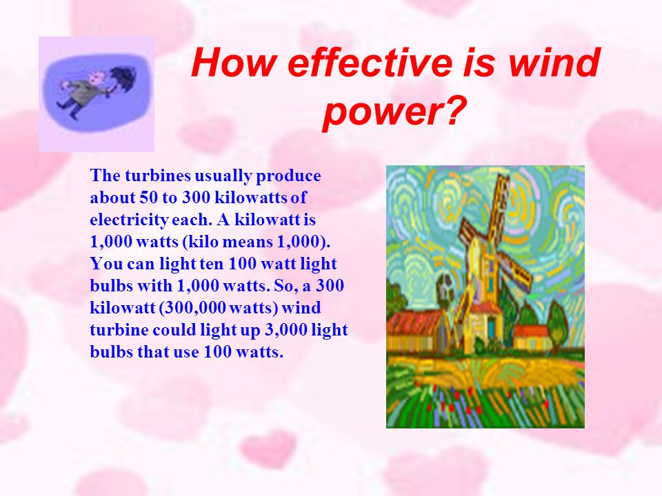 Examples of using wind power Farmers have been using wind energy for many years to pump water from wells using windmills like the one on the left. In