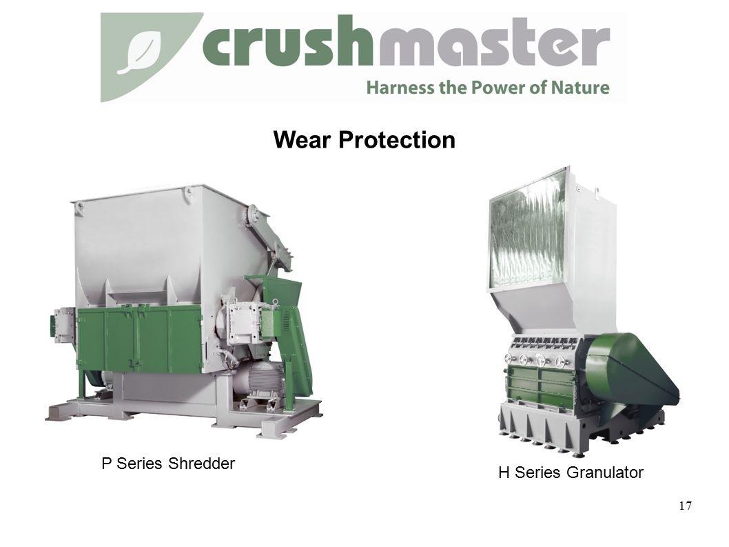 Wear Protection 17 P Series Shredder H Series Granulator