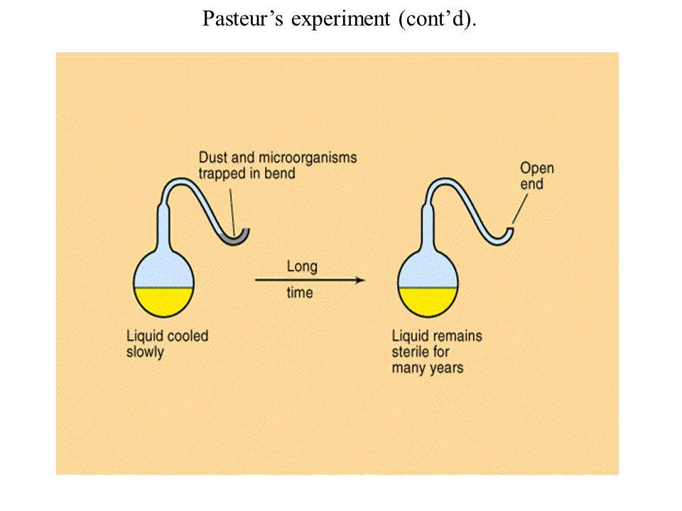 Pasteur's experiment (cont'd).