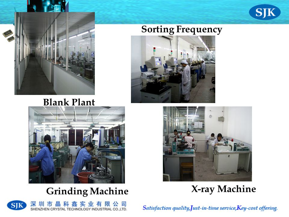 Blank Plant Grinding Machine X-ray Machine Sorting Frequency