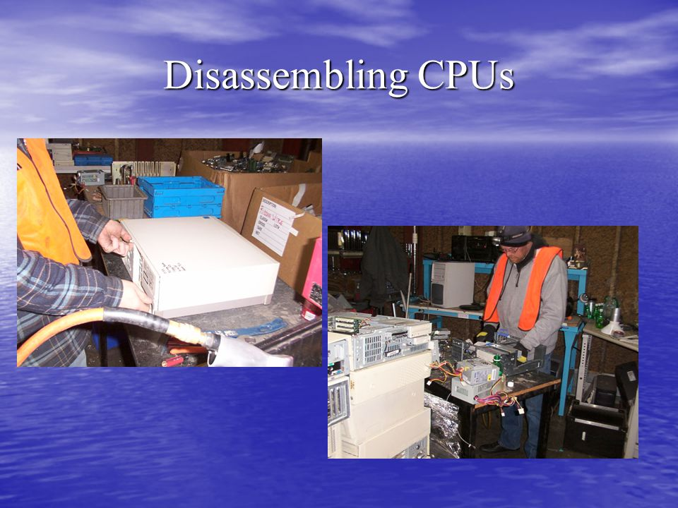 Disassembling CPUs