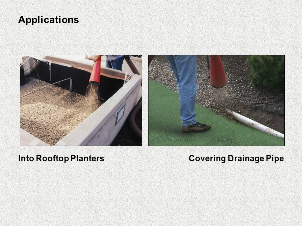 Applications Into Rooftop PlantersCovering Drainage Pipe