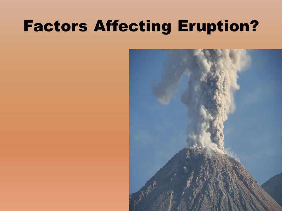 Factors Affecting Eruption?