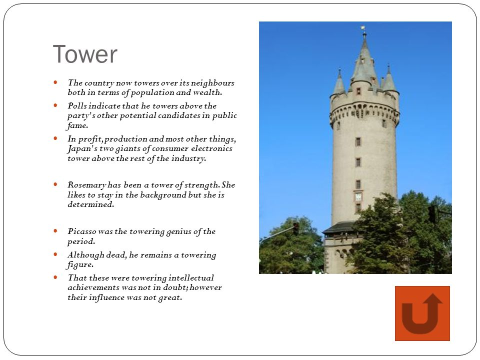 Tower The country now towers over its neighbours both in terms of population and wealth.