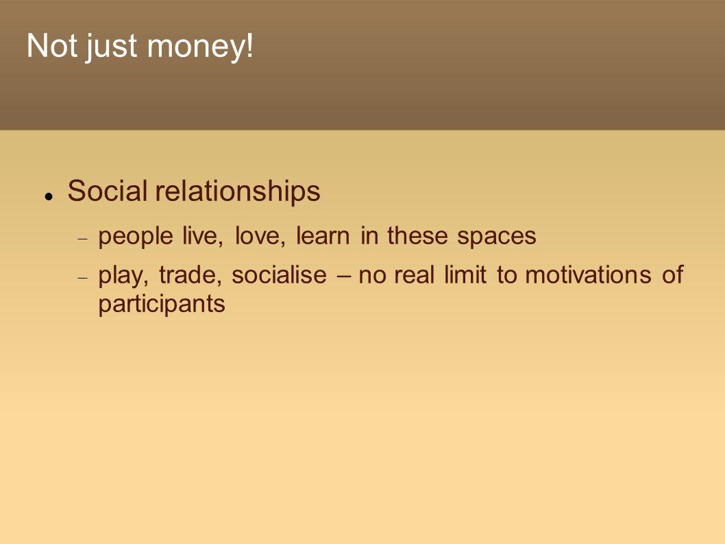 Not just money.