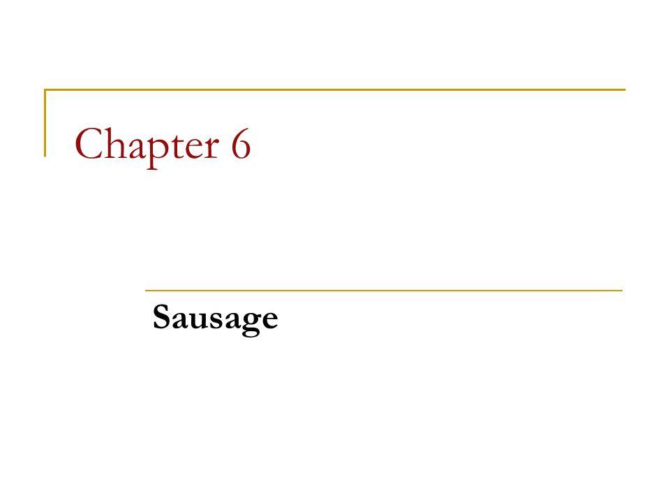 Chapter 6 Sausage