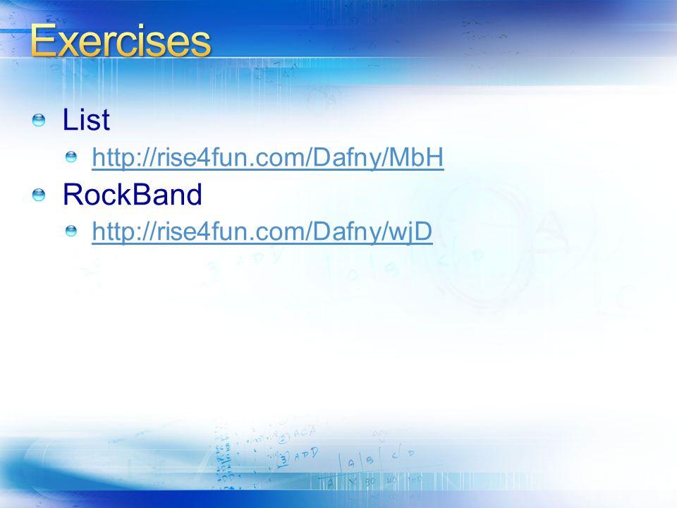 http://rise4fun.com/Dafny/MbH RockBand http://rise4fun.com/Dafny/wjD