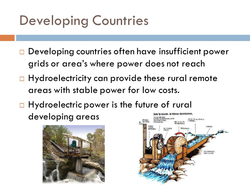 China  With a rapidly growing population, china has been utilizing hydroelectricity to provide energy.