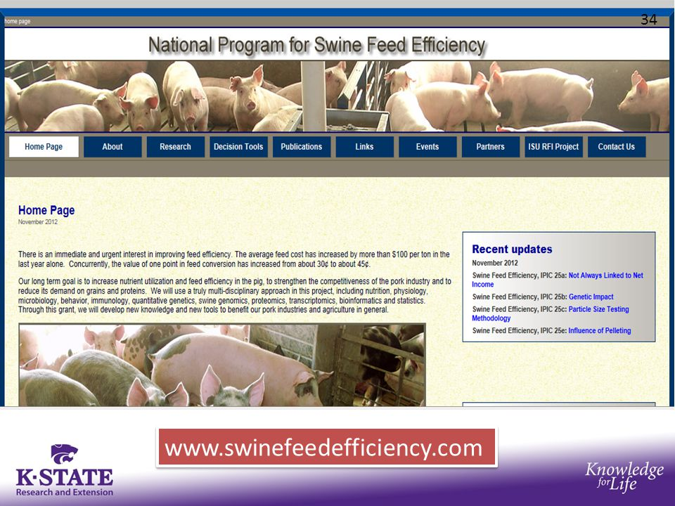 www.swinefeedefficiency.com 34