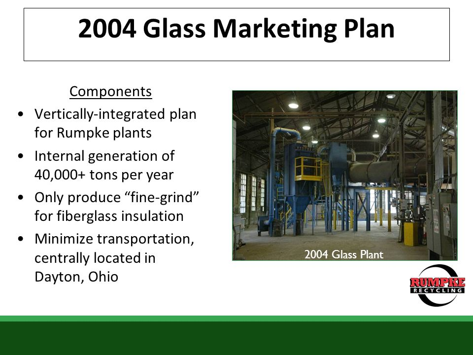 Public Awareness Rumpke Glass Project Providing service to 59 Cincinnati bars/restaurants Identifying glass drop-off locations in SW Ohio Evaluating various collection methods Moving forward …