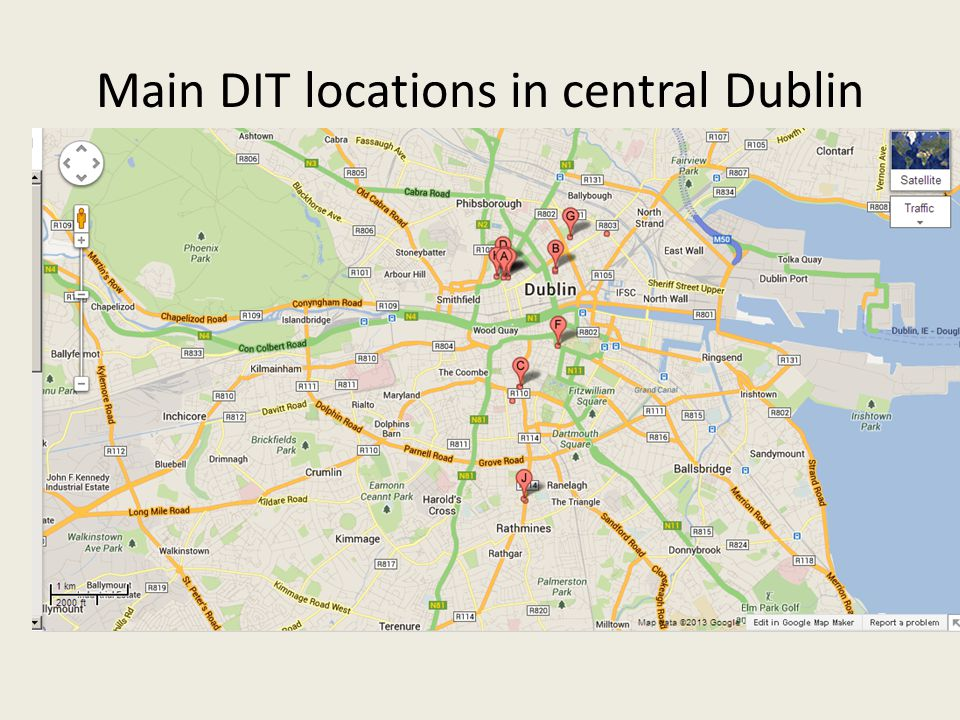 Main DIT locations in central Dublin
