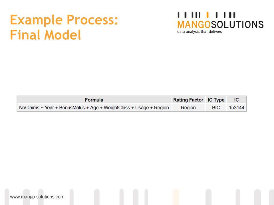 Example Process: Final Model