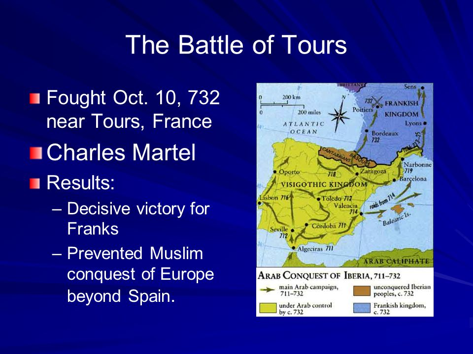 The Battle of Tours Fought Oct.