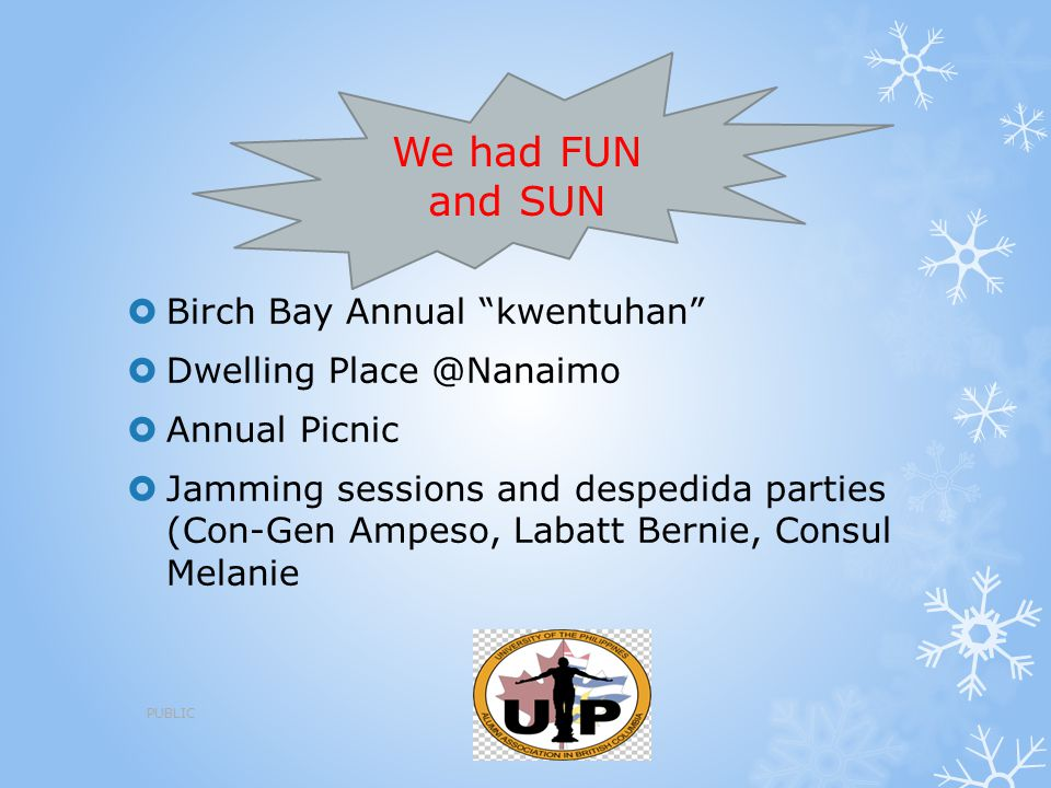 """ Birch Bay Annual """"kwentuhan""""  Dwelling Place @Nanaimo  Annual Picnic  Jamming sessions and despedida parties (Con-Gen Ampeso, Labatt Bernie, Cons"""
