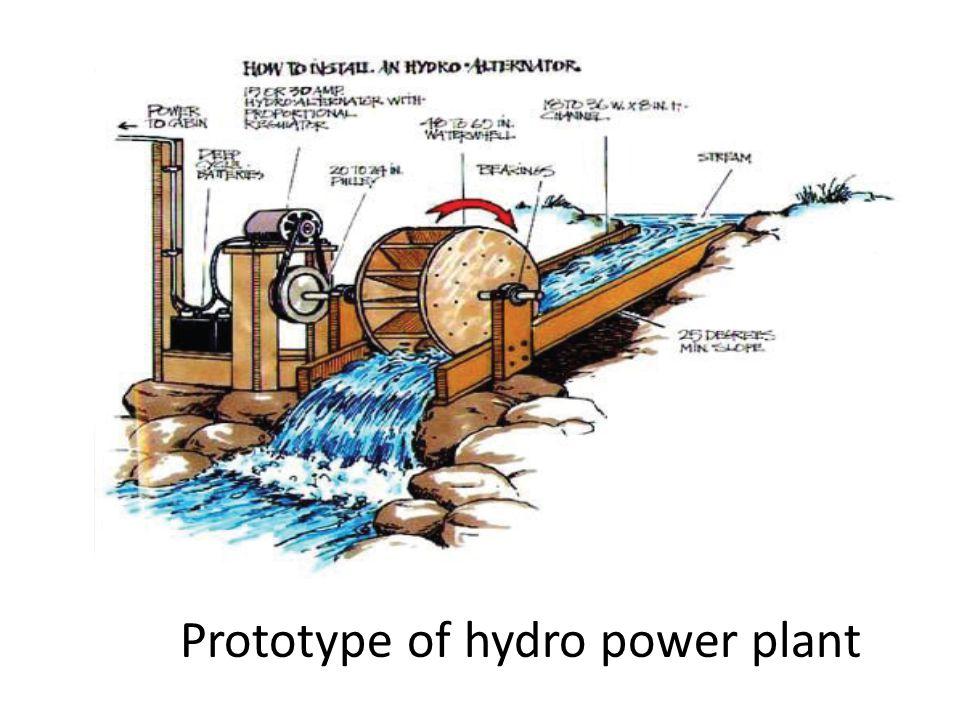 Prototype of hydro power plant
