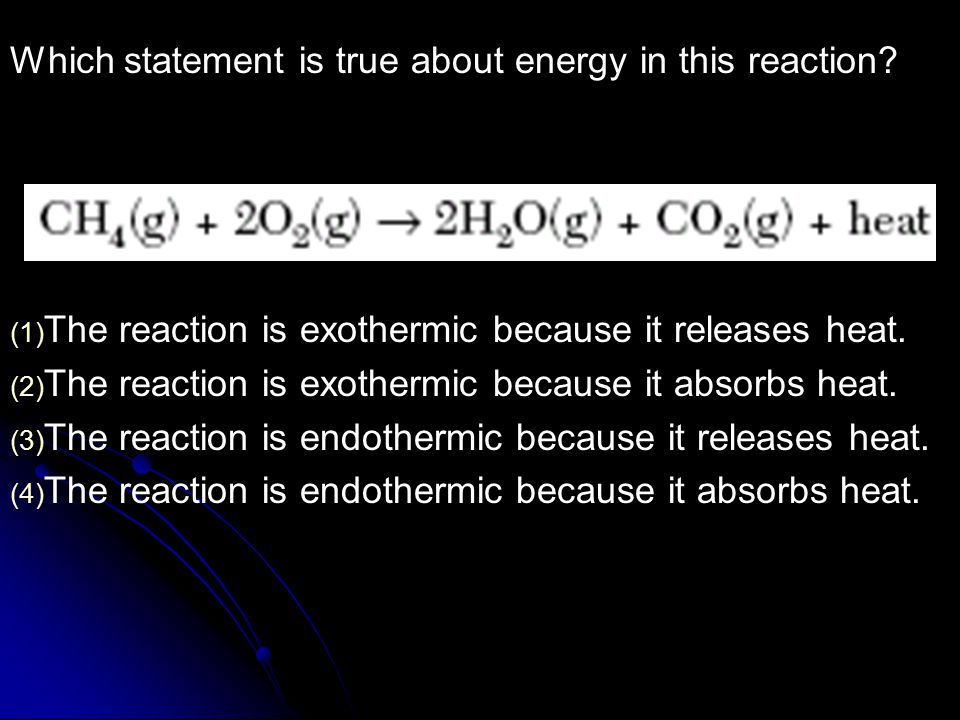 Which statement is true about energy in this reaction.