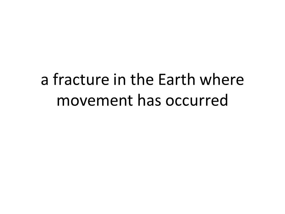 a fracture in the Earth where movement has occurred