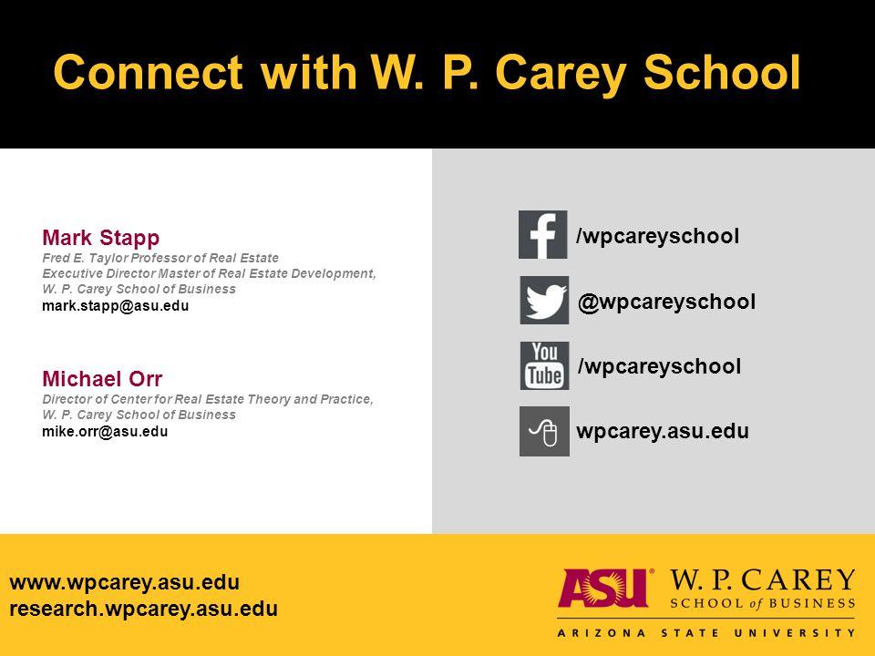 www.wpcarey.asu.edu research.wpcarey.asu.edu www.wpcarey.asu.edu research.wpcarey.asu.edu Connect with W.