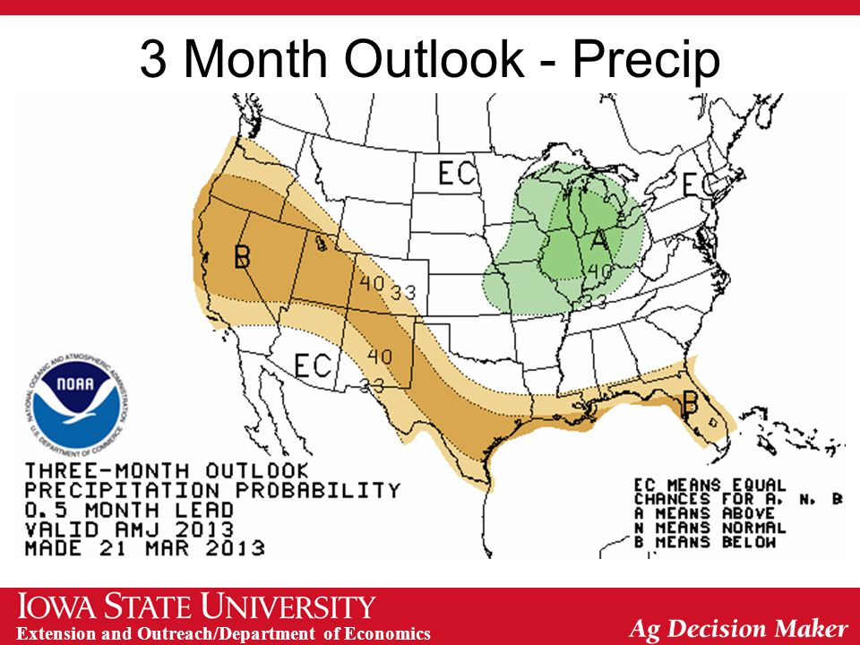 3 Month Outlook - Precip