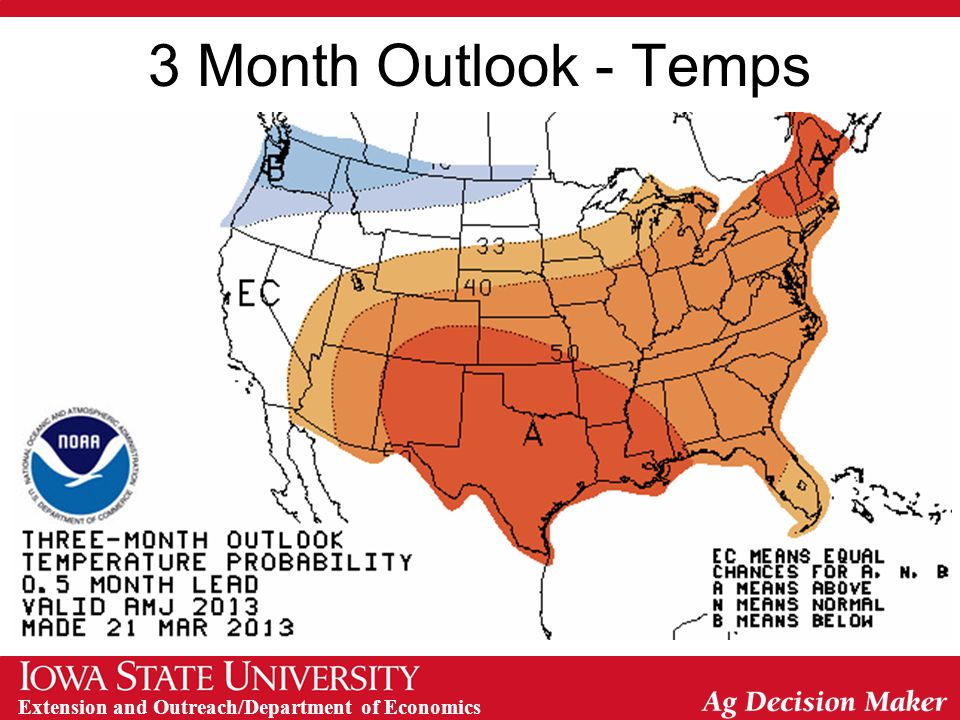 Extension and Outreach/Department of Economics 3 Month Outlook - Temps