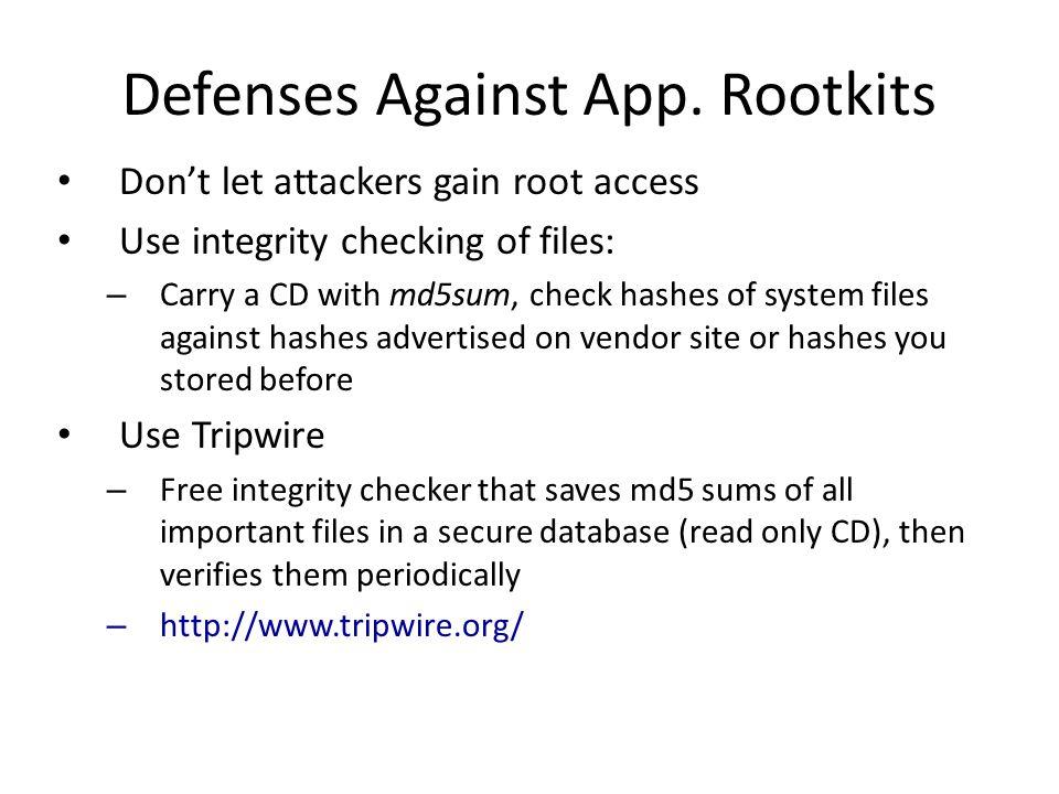 Defenses Against App.