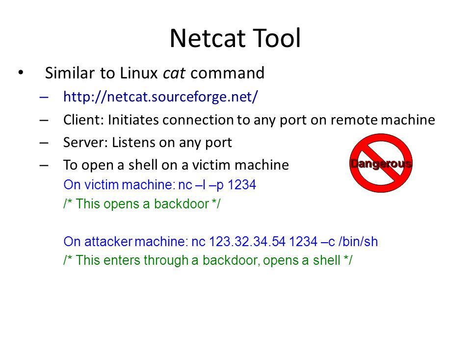 Simple Denial of Service One machine tries to bring down another machine There is a fundamental problem for the attacker: – The attack machine must be more powerful than the target machine to overload it OR – Attacker uses approaches other than flooding The target machine might be a powerful server