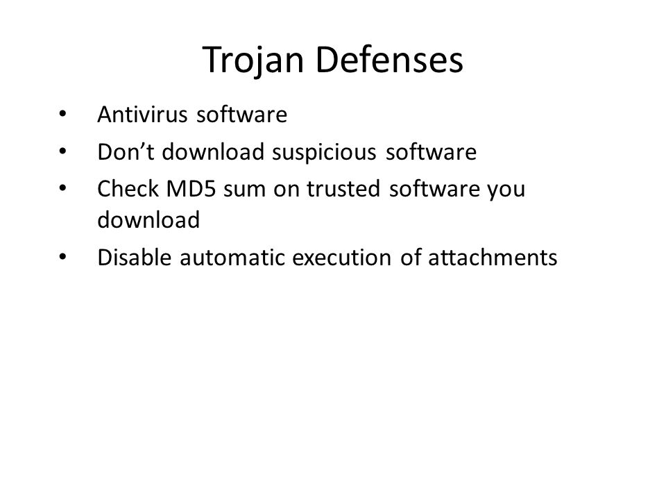 Attack Toolkits Widely available on the net – Easily downloaded along with source code – Easily deployed and used Automated code for: – Scanning – detection of vulnerable machines – Exploit – breaking into the machine – Infection – placing the attack code Rootkits – Hide the attack code – Restart the attack code – Keep open backdoors for attacker access DDoS attack code