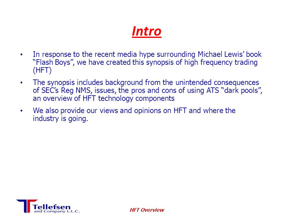 HFT Growth Rate * Early 2000's: <10% U.S.