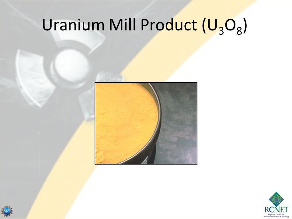 Uranium Mill Product (U 3 O 8 )