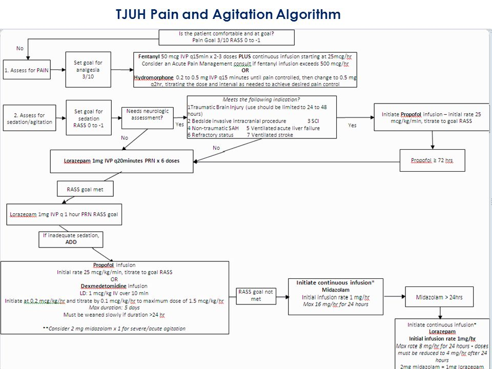 TJUH Pain and Agitation Algorithm