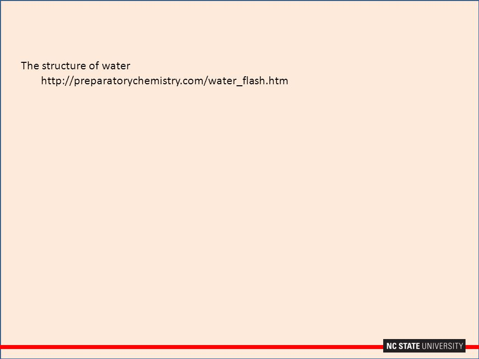 http://preparatorychemistry.com/water_flash.htm The structure of water