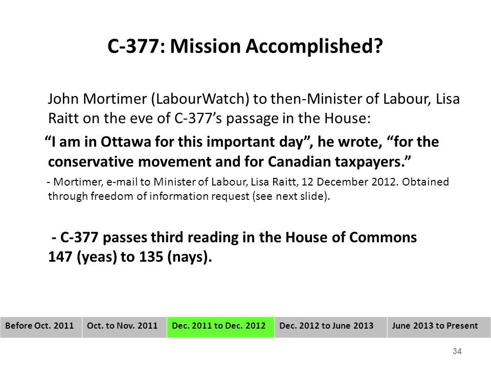 C-377: Mission Accomplished.