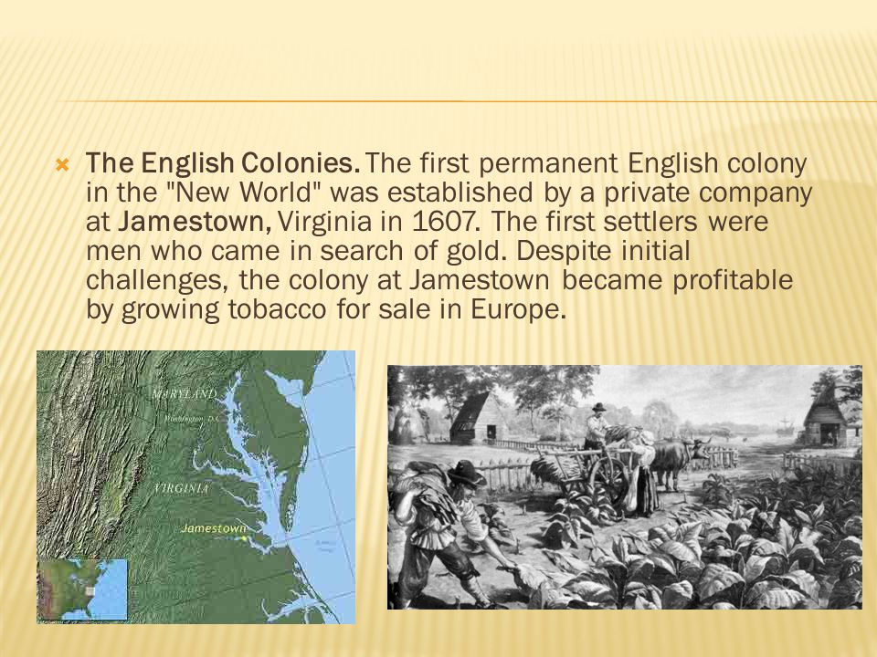  The English Colonies.