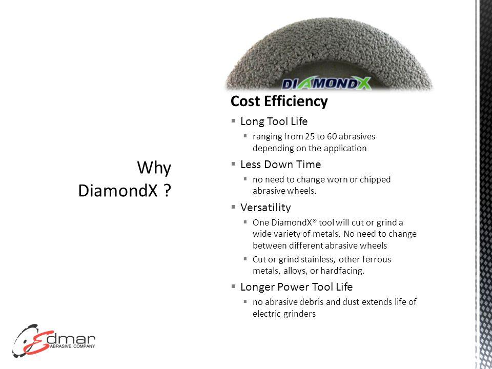 Productivity  Reduced Vibration  Operators will notice a big difference when using the DiamondX® vs.