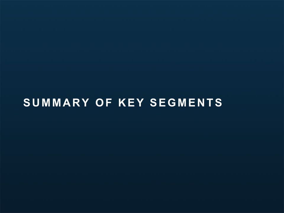 Minnesota Travel Segmentation Study | March 2012 SUMMARY OF KEY SEGMENTS