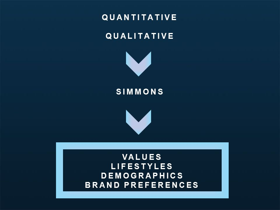 Minnesota Travel Segmentation Study | March 2012 QUANTITATIVE QUALITATIVE SIMMONS VALUES LIFESTYLES DEMOGRAPHICS BRAND PREFERENCES