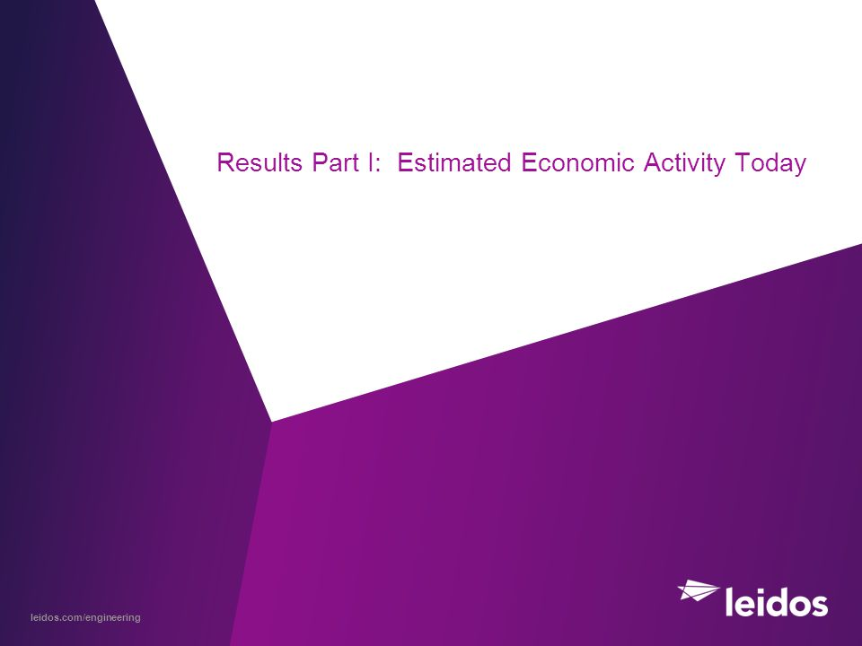 leidos.com/engineering Results Part I: Estimated Economic Activity Today
