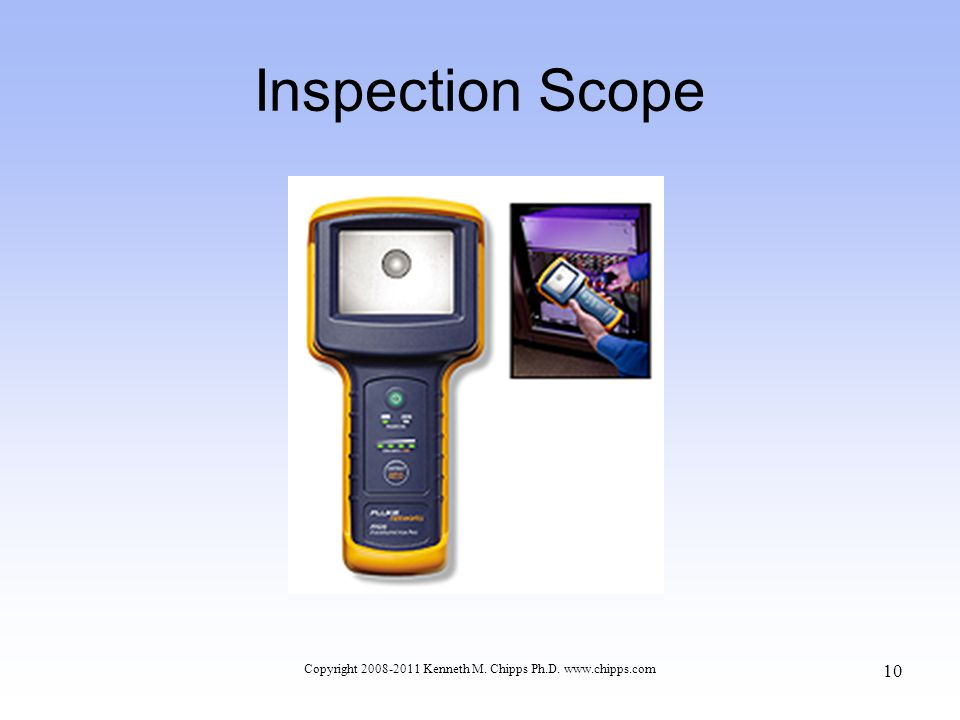 Inspection Scope Copyright 2008-2011 Kenneth M. Chipps Ph.D. www.chipps.com 10