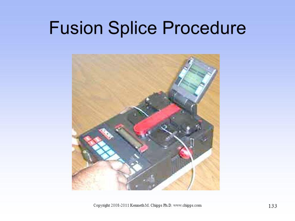 Copyright 2008-2011 Kenneth M. Chipps Ph.D. www.chipps.com Fusion Splice Procedure 133